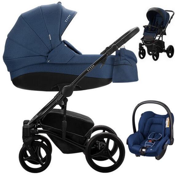 Wózek 3w1 BEBETTO TITO + fotelik Maxi Cosi CITI
