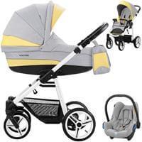 Wózek 3w1 BEBETTO VULCANO + fotelik Maxi Cosi CABRIO FIX