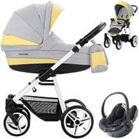 Wózek 3w1 BEBETTO VULCANO + foteli BeSafe iZi GO Modular I-Size