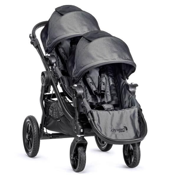 Wózek głęboko-spacerowy BABY JOGGER CITY SELECT DOUBLE + 2 foteliki Kiddy EVOLUTION PRO 2 4