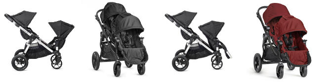 Wózek głęboko-spacerowy BABY JOGGER CITY SELECT DOUBLE + 2 foteliki Kiddy EVOLUTION PRO 2 1