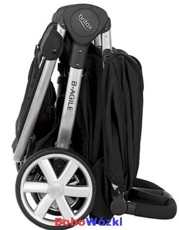 Britax wózek spacerowy B-AGILE DOUBLE złożony