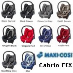 Maxi Cosi CabrioFIX kolory 2009