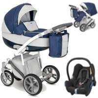 Wózek 3w1 CAMARELO CANILLO + fotelik Maxi Cosi CABRIO FIX