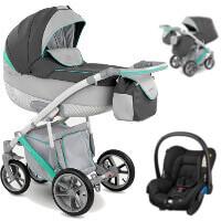 Wózek 3w1 CAMARELO PIRO + fotelik Maxi Cosi CITI