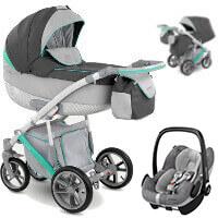 Wózek 3w1 CAMARELO PIRO + fotelik Maxi Cosi PEBBLE PRO