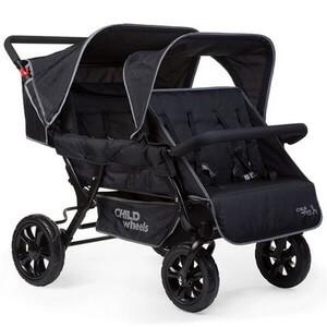 Wózek spacerowy dla 4 dzieci CHILDHOME TWO BY TWO