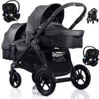 BABY JOGGER CITY SELECT DOUBLE g��boko-spacerowy + 2 foteliki samochodowe Cybex Aton <b><font color=blue>2016</b></font>