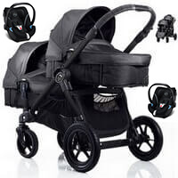 BABY JOGGER CITY SELECT DOUBLE g��boko-spacerowy + 2 foteliki samochodowe Cybex Aton 4 <b><font color=blue>2016</b></font>