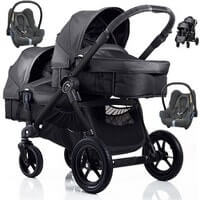 Baby Jogger City Select DOUBLE w�zek g��boko-spacerowy + 2 foteliki Maxi Cosi CABRIO FIX