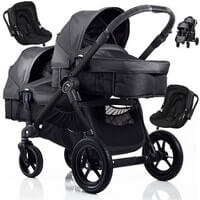 BABY JOGGER CITY SELECT DOUBLE g��boko-spacerowy + 2 foteliki Kiddy EVOLUTION PRO 2