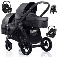 Baby Jogger City Select DOUBLE w�zek g��boko-spacerowy + 2 foteliki Maxi Cosi PEBBLE