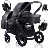 Baby Jogger City Select DOUBLE g��boko-spacerowy + 2 foteliki Besafe IZI GO