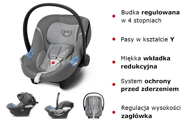 Fotelik samochodowy CYBEX ATON M dla dzieci 0-13kg 3