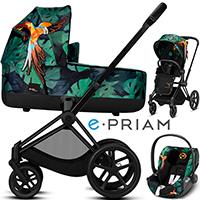Wózek 3w1 CYBEX E-PRIAM 2.0 Birds of Paradise + fotelik samochodowy CLOUD Z I-ISIZE