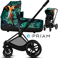 Wózek 2w1 CYBEX E-PRIAM 2.0 Birds of Paradise
