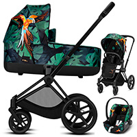 Wózek 3w1 CYBEX PRIAM 2.0. + fotelik CLOUD Q Birds of Paradise