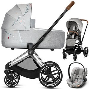 Wózek 3w1 CYBEX PRIAM 2.0 + fotelik CLOUD Q KOI Crystal Lized