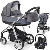 Wózek 3w1 ESPIRO NEXT SILVER + fotelik Maxi Cosi CABRIO FIX