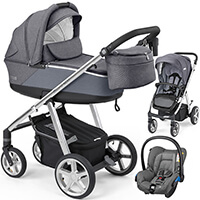 Wózek 3w1 ESPIRO NEXT SILVER + fotelik Maxi Cosi CITI
