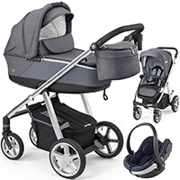 Wózek 3w1 ESPIRO NEXT SILVER + fotelik BeSafe iZi GO MODULAR I-SIZE