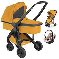 Wózek 3w1 GREENTOM UPP CLASSIC CARRYCOT + fotelik BeSafe iZi GO MODULAR i-SIZE