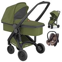 Wózek 3w1 GREENTOM UPP CLASSIC CARRYCOT + fotelik Maxi Cosi CITI
