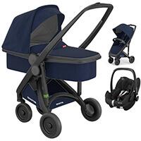 Wózek 3w1 GREENTOM UPP CLASSIC CARRYCOT + fotelik Maxi Cosi PEBBLE PRO