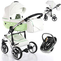 Wózek 3w1 Junama CANDY + fotelik Maxi Cosi CORAL