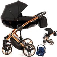 Wózek 3w1 Junama DIAMOND INDIVIDUAL + fotelik Maxi Cosi CITI