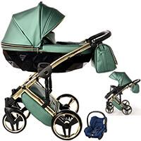 Wózek 3w1 Junama FLUO LINE + fotelik Maxi Cosi CITI