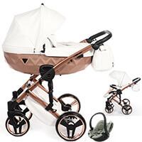 Wózek 3w1 Junama MIRROR SATIN + fotelik BeSafe iZi GO MODULAR i-Size