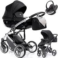 Wózek 3w1 Junama ONYX + fotelik samochodowy BeSafe iZi GO MODULAR i-Size