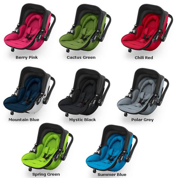 Zestawienie kolorów fotelika samochodowego Kiddy Evolution Pro 2