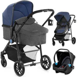 Wózek 3w1 Kinderkraft JULI + fotelik samochodowy MINK