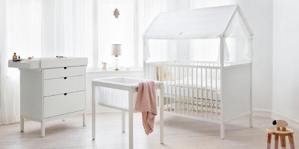 Nietypowy Okaz STOKKE HOME CRADLE stylowa kołyska dla niemowlą EJ55