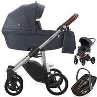 Wózek dziecięcy 3w1 BEBETTO LUCA + fotelik Swandoo ALBERT LITE
