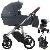 Wózek dziecięcy 3w1 BEBETTO LUCA + fotelik Swandoo ALBERT