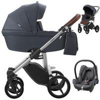 Wózek 3w1 BEBETTO LUCA + fotelik Maxi Cosi CABRIO FIX + torba
