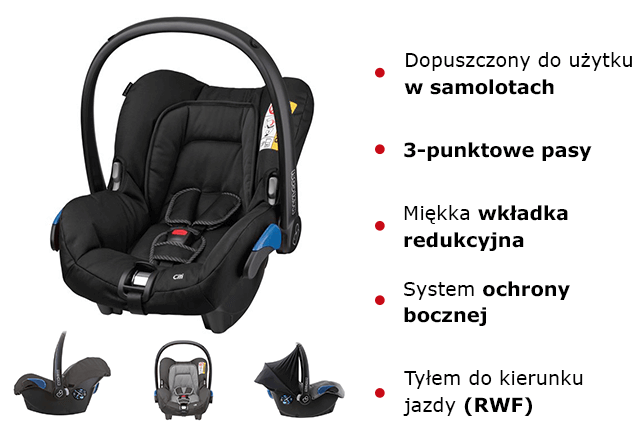 Maxi Cosi CITI fotelik cechy