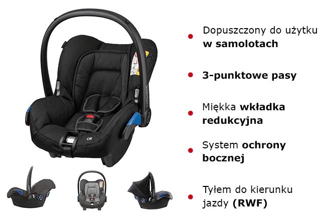 Fotelik samochodowy Maxi Cosi CITI cechy