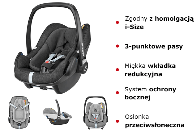 Maxi Cosi PEBBLE PLUS cechy