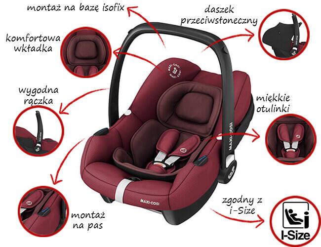 Fotelik samochodowy Maxi Cosi TINCA 0-13 kg 1