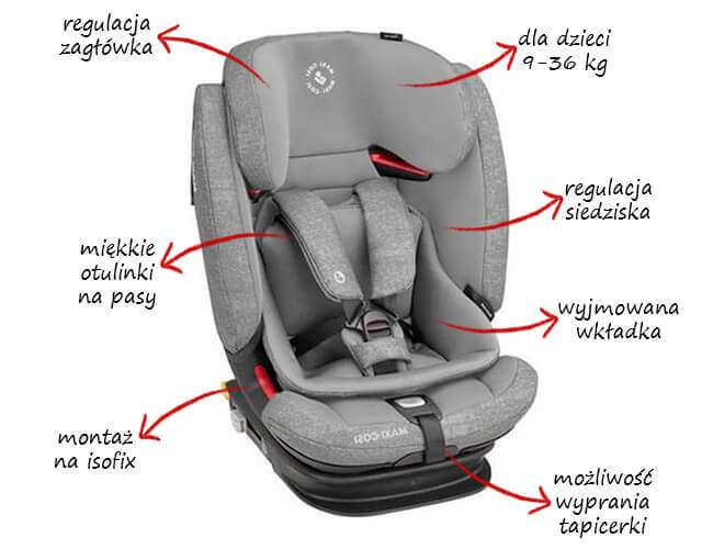 Fotelik samochodowy MAXI COSI TITAN PRO dla dzieci 9-36 kg 1