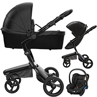 Wózek 3w1 MIMA XARI 4G BLACK + fotelik Maxi Cosi CITI