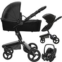 Wózek 3w1 MIMA XARI 4G BLACK + fotelik Maxi Cosi PEBBLE  PRO
