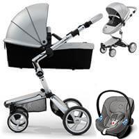 Wózek 3w1 MIMA XARI 3G ARGENTO + fotelik Cybex ATON M
