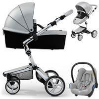 Wózek 3w1 MIMA XARI 3G ARGENTO + fotelik  Maxi Cosi CABRIO FIX
