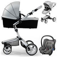 Wózek 3w1 MIMA XARI 3G ARGENTO + fotelik  Maxi Cosi CITI