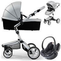 Wózek 3w1 MIMA XARI 3G ARGENTO  + fotelik BeSafe iZi GO Modular I-Size
